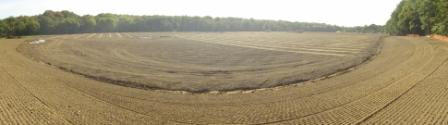 Construction of new polo ground by Agrostis